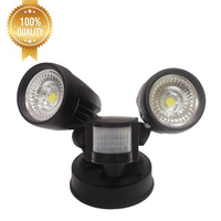 Factory cheap cob mini rotating outdoor 10w 20w 30w security led flood light with pir motion sensor