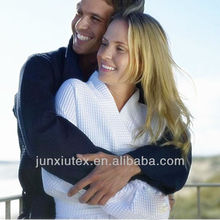 Beautiful suede woven microfiber bathrobe/sport bathrobe