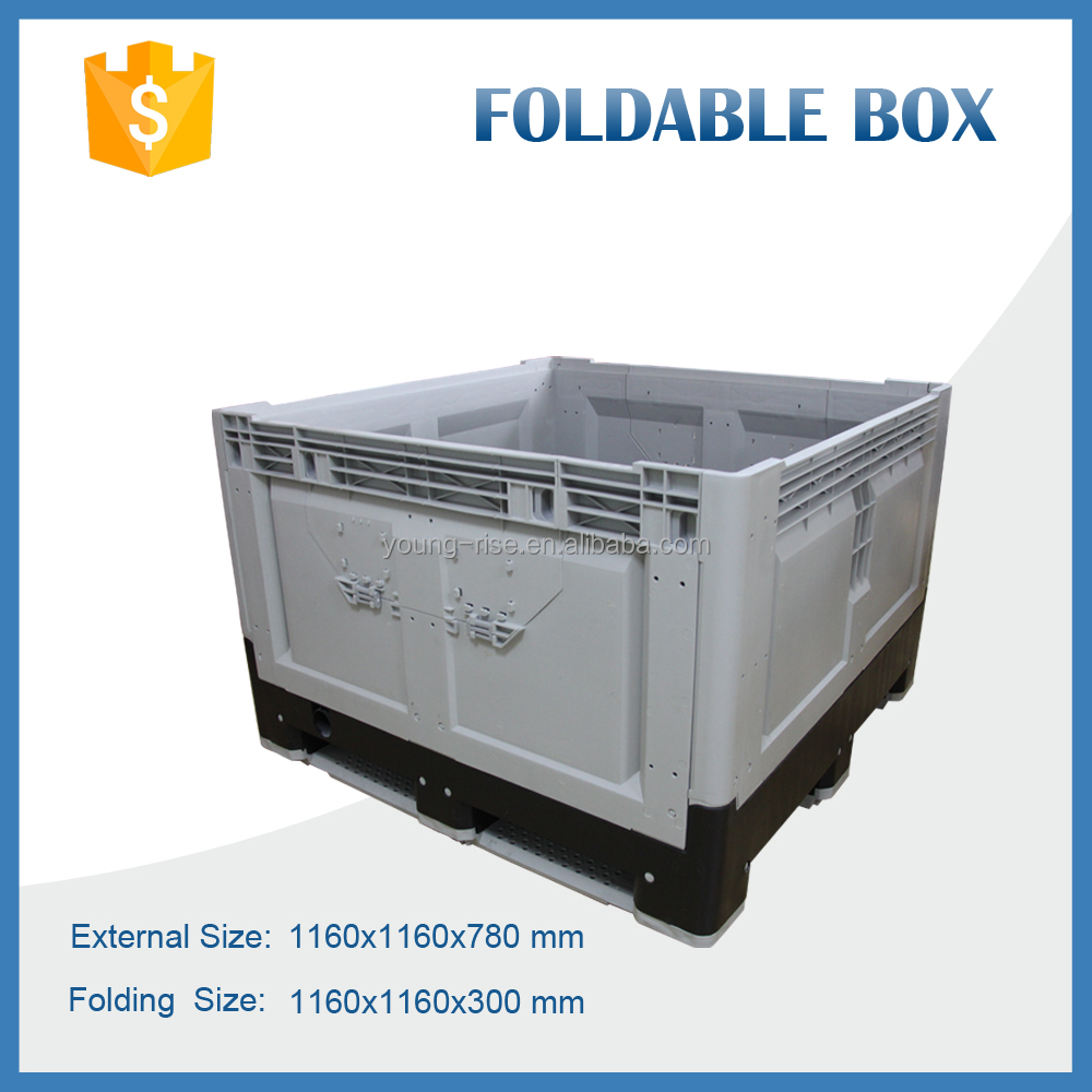big folding plastic pallet collapsible plastic fruit crates with high quality