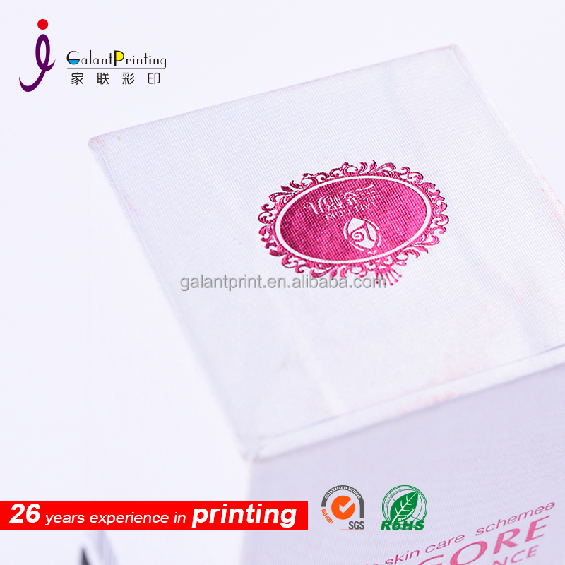 cosmetic packaging printied box with black paper box bottom tracket shell