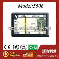 2013 new portable 5 inch car gps navigation with FM+AV IN MAP with 128M SDRAM and 4G memory