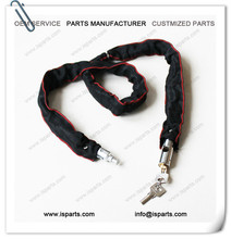 Motorbike Motorcycle 6x1.5m Polyester Chain Lock With Security Keys