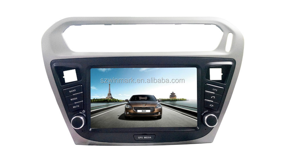 DH8017 Single Din Touch Screen Car Multimedia DVD for Peugeot 301 with Navigation