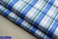 100% cotton blue / white plaid shirt fabric