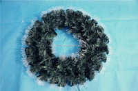 Fiber Optic Christmas Wreath, Christmas Decorations ,Artificial Christmas Garland