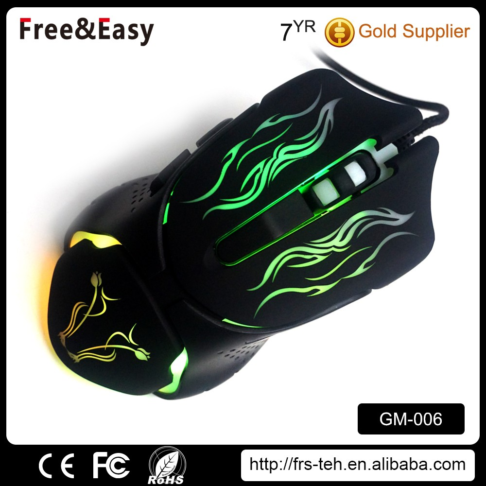 High quality colorful optical 6D professional gaming mouse for UK market