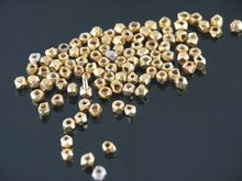 Silver High Polish Gold Plated Beads