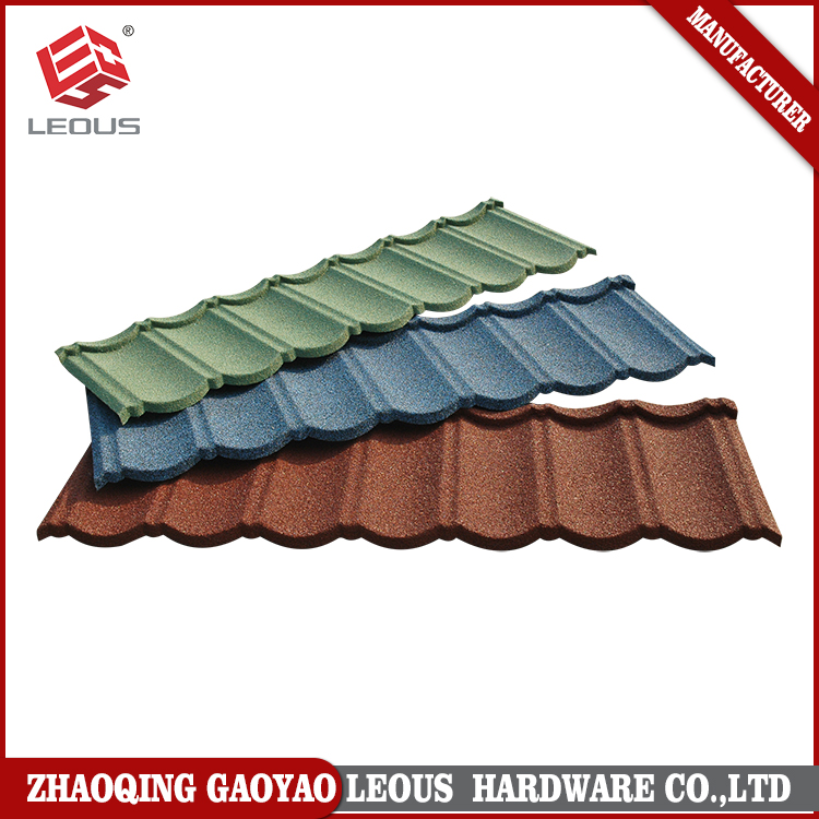LEOUS Brand stone coated tile metal roofing shingles