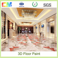 New product mould proof scuff resistance anti acid anti akali resin 3d epoxy floor paint
