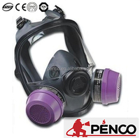 Full Face Gas Mask with Double Cartridges