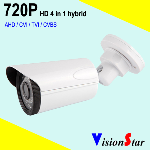 VisionStar infrared bullet type 720p waterproof hd cvi tvi cvbs ahd 4 in 1 camera video surveillance system