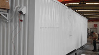 Low cost container house for apparatus room