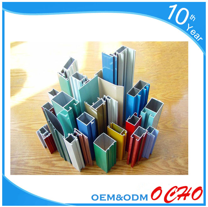 Window and Door Standard Aluminium Extrusion for Double Glass Aluminium Windows Frame