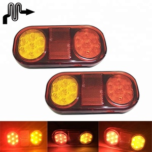 12V 24V 12-24V 21LEDs 100% Waterproof LED Boat Trailer Combination Indicator Stop Tail Lights Rear Signal Lamp With Reflector