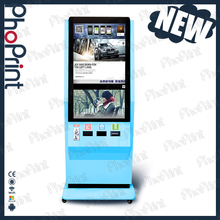 lcd monitor digital signage selfie kiosk party picture photo printing device