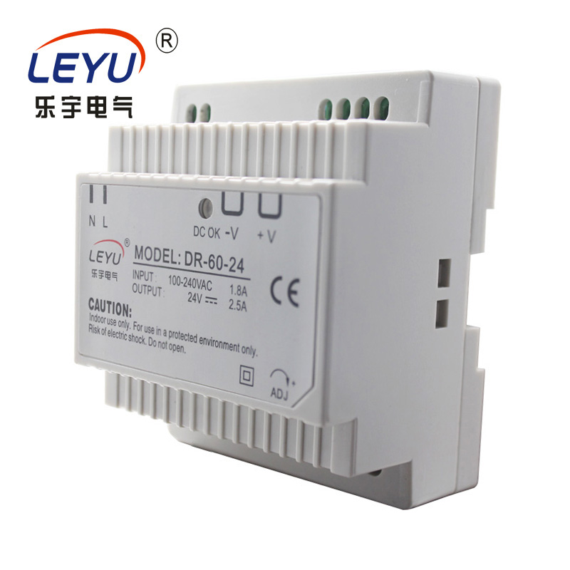 DR-60-24 switching power supply CE RoHS approved 24VDC 2.5a DIN rail power supply