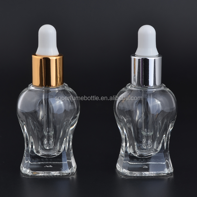 MUB Refill Unique Shape Different Staly Clear Dropper Glass Bottle Perfume &Essential Oil