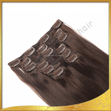Factory Wholesale Best Price Top Quality Clip-In Yaki Human Hair Extensions
