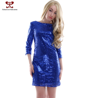 2015 Autumn Fashion Dresses Latest Design Shiny sequins skirt Sexy Bundle Clothing girl night evening dress online wholesale