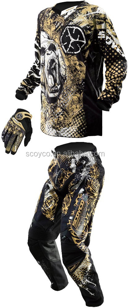 Scoyco motocross wear motocross jersey pant glove combo breathable sublimation printing MX5
