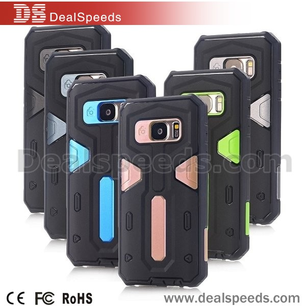 Detachable Hybrid Silicone + PC Back Cover Case for Samsung Galaxy S7/ G9300