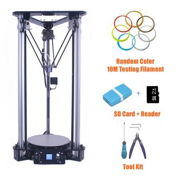 2017 high precision diy kossel delta 3d printer kit smart leveling auto feeding filament large size metal 3d printer for sale