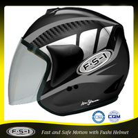 Cool black DOT open face cheap motor cycle helmet for sale