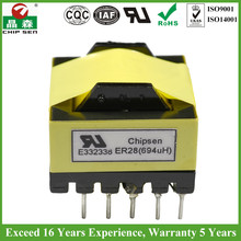 Customized ISO Quality ER28 6.6K Output Transformer UL ROHS Certified