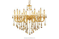 Europe royal Style Classical full Copper Baccarat crystal chandelier light hotel Chandelier For High Ceiling 5 heads 158-10H