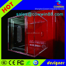 Pop acrylic display box, acrylic open book display stand