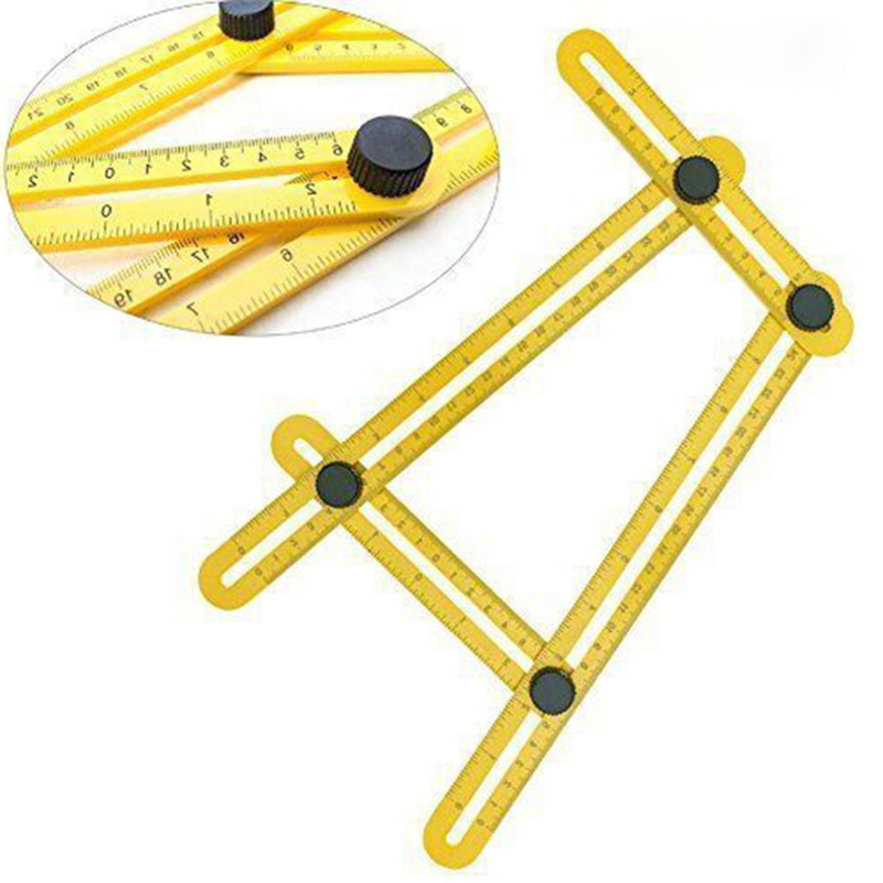 Jewelry Tools Measuring Instrument Angle-izer Template Tool Four-Sided Ruler Mechanism Slide herramientas para joyeria