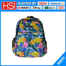 Eco friendly material polyester trendy school bags for teenagers