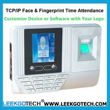 0.5S Fast Speed WiFi TCP IP USB Color Screen biometrics face recognition timeclock solution