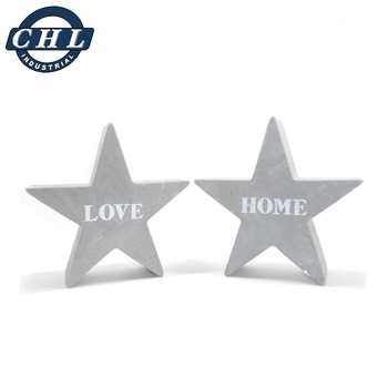 Star shape homewares cement garden ornament
