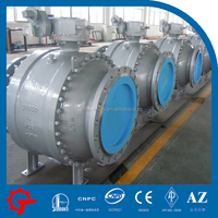A216 WCB cast steel trunnion ball valve
