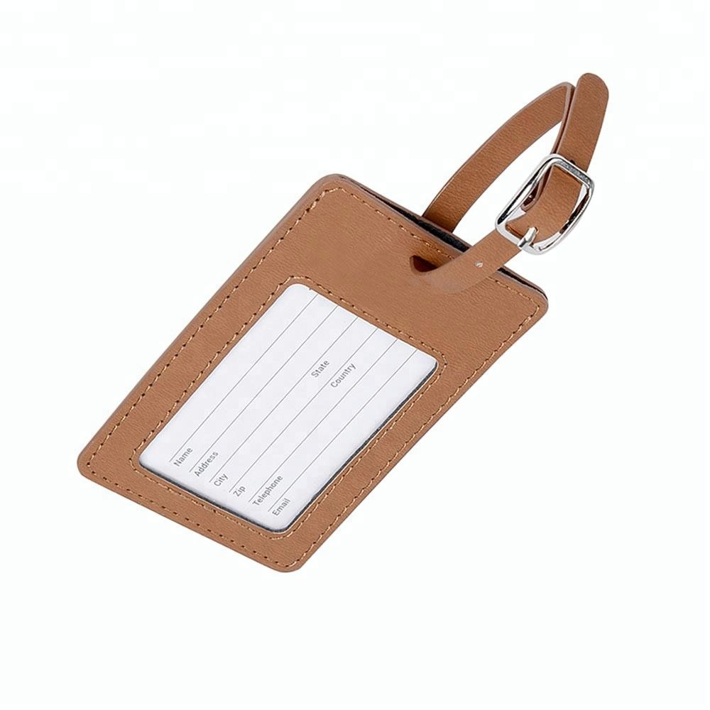 Best sale wholesale custom pvc luggage tag in bag parts,business gift set