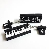 2016 New Pen Drive 4G 8G 16G 32G 64G Silicone Piano Music Instrument Pendrives Usb Flash Drive Memory Stick Gift USB 2.0