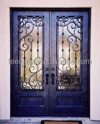 arched metal double doors exterior FD-573