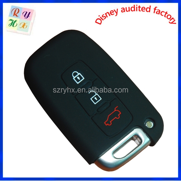 Wholesale 3 button silicone car key cover for hyundai car key silicone case