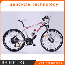 "Suncycle 26"" adult electric dirt bike oem bicycle electric bike 2017 with 21 speed"