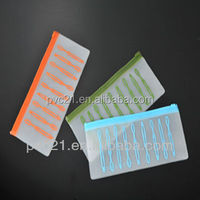 Custom made slider plastic zipper pouch with screen printing