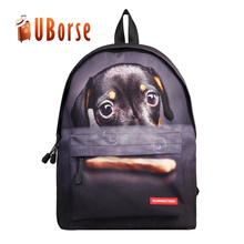 Large capacity travel bag durable soft shoulder backpack Cartoon Cat Dog Printed 3D Picnic Outdoor Traveling Bag Cute Backpacks