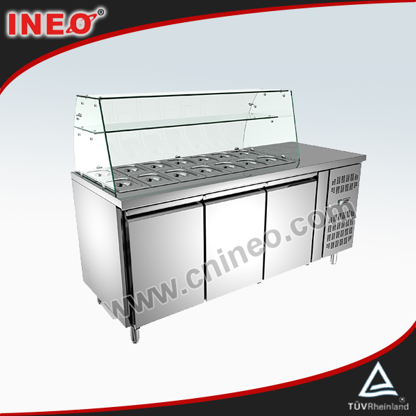 Stainless Steel Refrigeration Equipment For Salad(INEO are professional on commercial kitchen project)