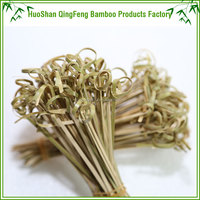 QF excellent quality bamboo knot sticks food picks for party