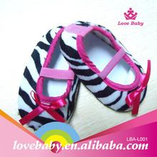Hottest sale cheapest baby zebra printed crib shoes