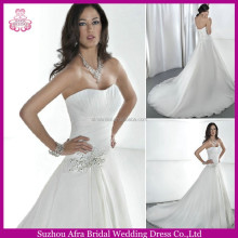 SD1025 plain organza A line dubai wedding gown cheap japanese style wedding gowns