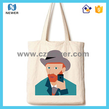 Wholesale standard size cotton canvas tote shopping bag
