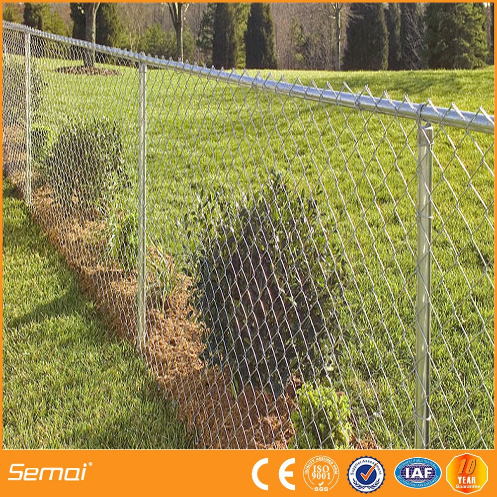 Pvc Coated Electro Galvanized Hot-dipped Galvanized Chain Link Fence
