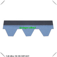 Blue Black Mosaic Roofing Shingles Natural Hexagonal Type Material Recycled Roof Tile Price
