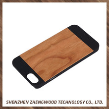Hot sale & high quality wood phone cases plastic shell cover for iphone